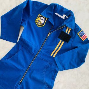 Kids Blue Angel Pilot Jumpsuit 4-5yr Blue Costume